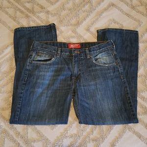 Arizona 16 Husky Adj Waist Straight Leg Jeans